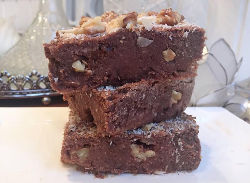 zoete aardappel chocolade brownie